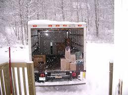 déménager quand il neige