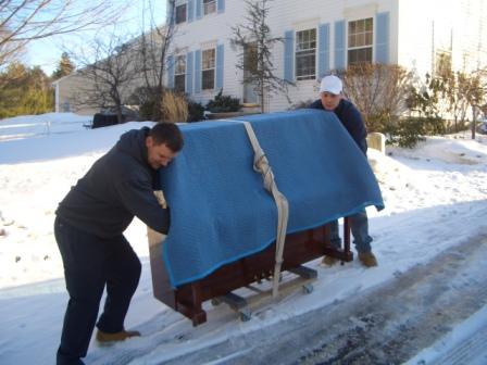 piano sous neige